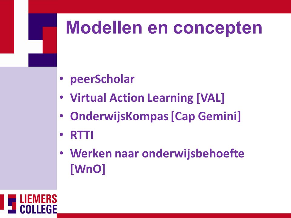 Modellen en concepten peerScholar Virtual Action Learning [VAL]